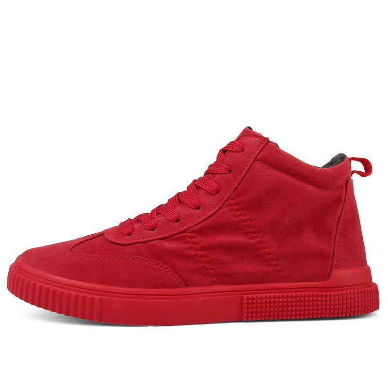 New Casual Shoes Men Winter Red Black Sneakers All-Match Style Trend Fashion 1759