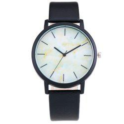 Personality Trend Marble Dial Quartz Watch -