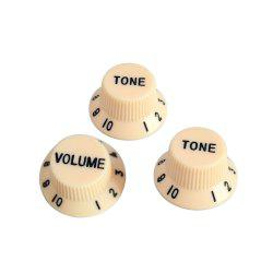 3 in 1 Yellow Control Knob for Guitar Bass Parts Made of Plastic -