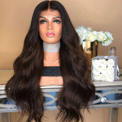 New Wigs Dyed Dark Brown Highlights The Gradient Points in The Ms Curly Hair Wig -