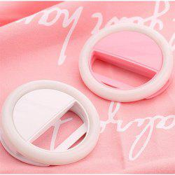 Rechargeable Selfie Portable LED Ring Fill Light Mirror -