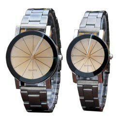 V5 Fashion Personality Meteor Shower Dial Quartz Lovers Watch -