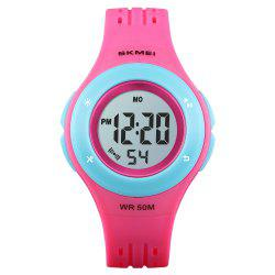 SKMEI Kids LED Sport Style Children's Digital Electronic Clock Cartoon Watch -