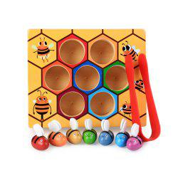 Baby's Montessori Hive Game Board Bees With Clamp Fun Picking Catching Toy -