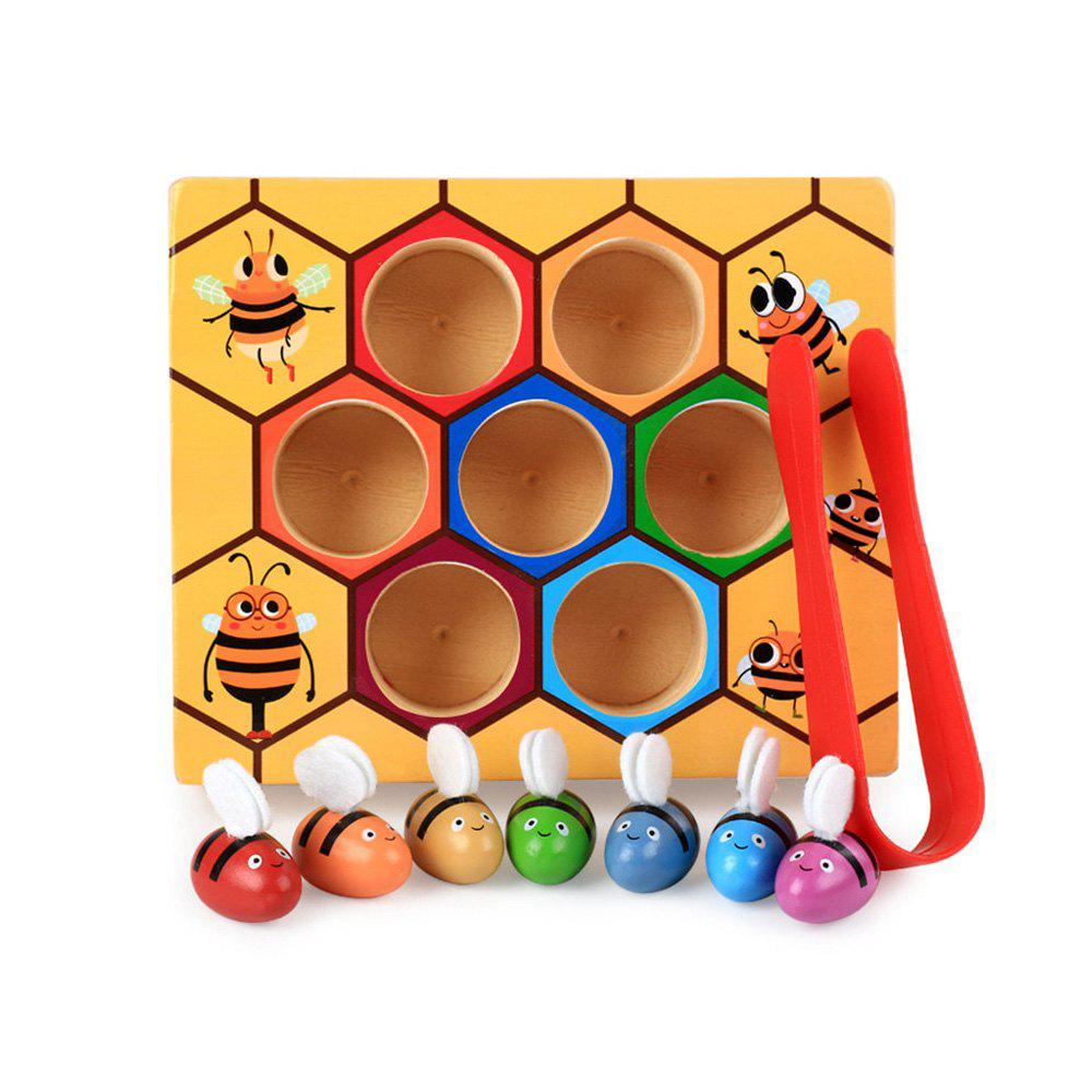 Sale Baby's Montessori Hive Game Board Bees With Clamp Fun Picking Catching Toy