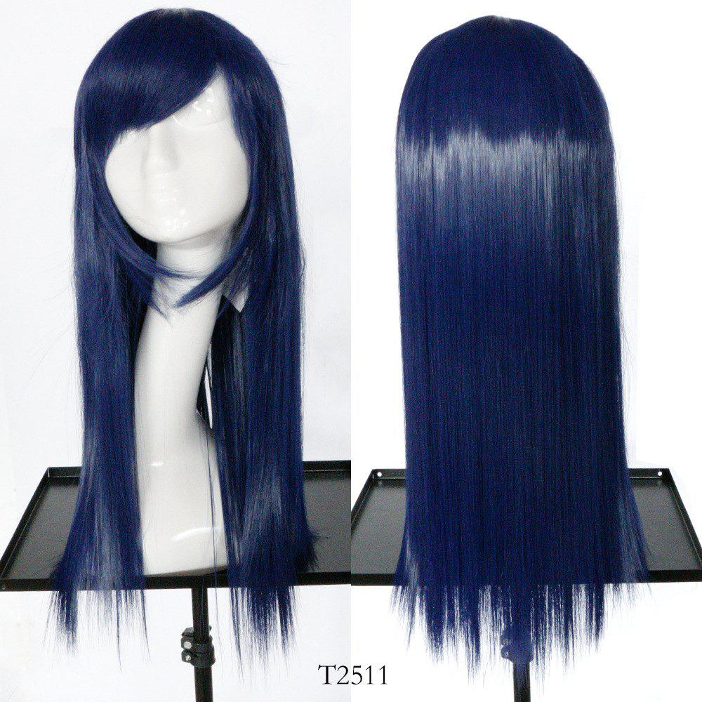 28 Off Navy Blue Long Straight Hair Cosplay Synthetic