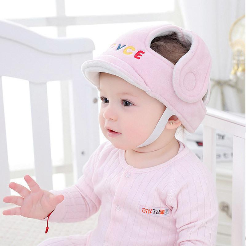 Hot Baby Head Protector Letter Pattern Baby Safety Hat