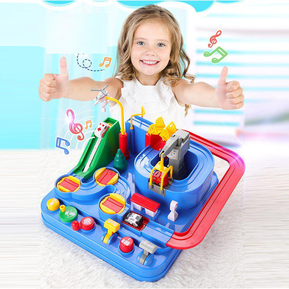 Fashion Interactive Toys Rescue City Car Park Obstacle Course Driving Game Construction