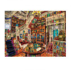 The Beautiful Building Is Beautifully Decorated with Jigsaw Puzzles -