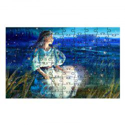 Planet Moon Girl Jigsaw Puzzle -