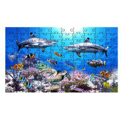 Jigsaw Puzzle Sea World Coral and Dolphins -