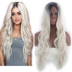 Europe and The United States in The Long Curly Hair Gradient Wig Headgear -