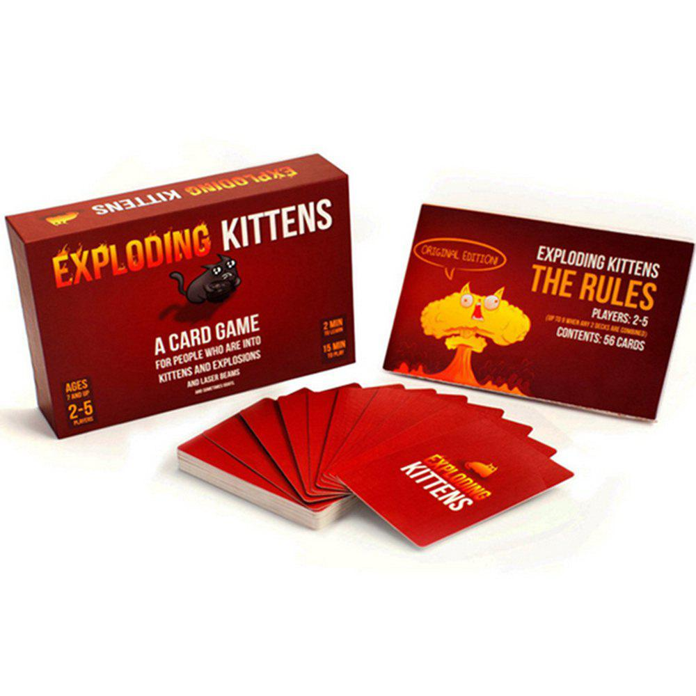 Exploding Kittens Card Game Rouge Lave 1 ensemble