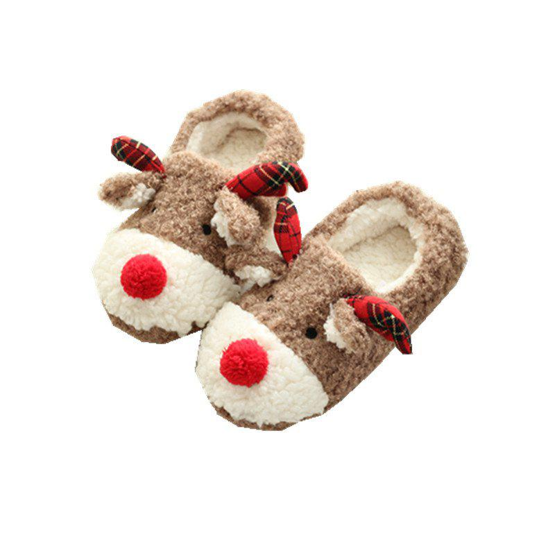 Latest Christmas Elk Pure Handmade Home Women's Tow Bag and Nest Shoes Cotton