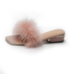 Ladies Hairy Slippers with Matching Shoes. -