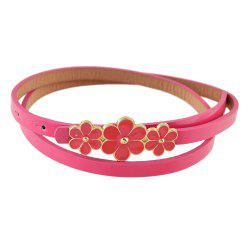 Enamel Flower Decoration Adjustable Belts -