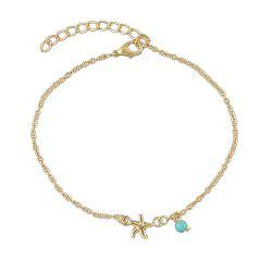 Bohemian Star Blue Beads Charm Anklets -