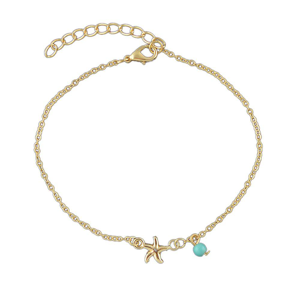 Hot Bohemian Star Blue Beads Charm Anklets