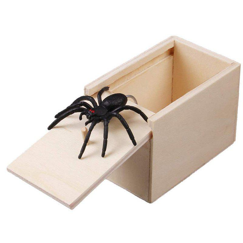 New Hilarious Scare Box Spider Prank - Wooden Scarebox Joke Amish Made Amish Wooden