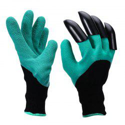 Garden Gloves with 4 ABS Plastic Claws for garden Digging Planting 1 pair Drop -