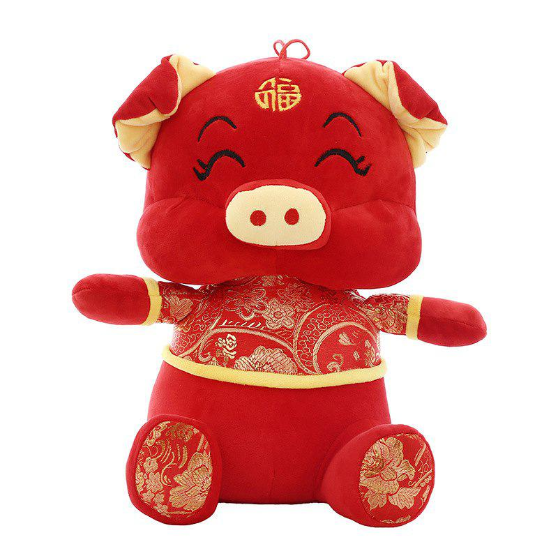 Store Year of The Pig Mascot Doll Wool Tang Costume Dolls