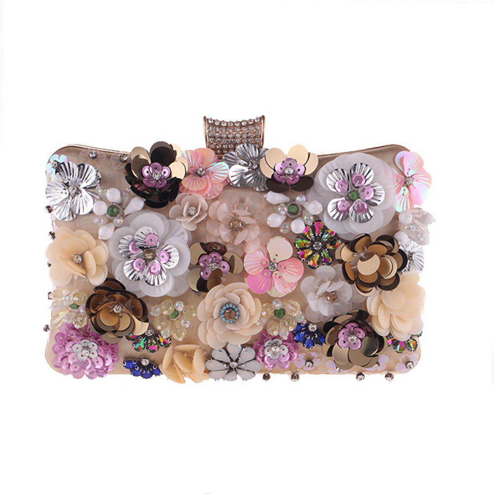 Sale Popular Color Flower Beaded Portable Dinner Packages Fashionable Dress
