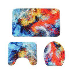 Color Marble Toilet Mat Three-Piece -