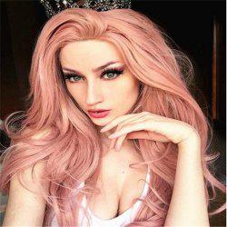 Pink Mid-Length Curly Wig Headgear -