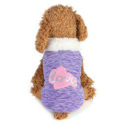 Creative Love Patch Dog Cotton Clothes -