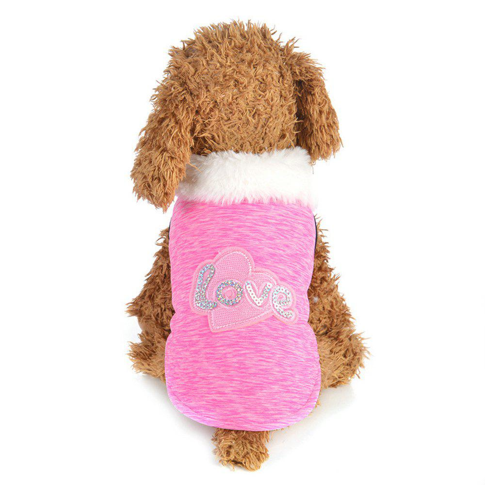 Store Creative Love Patch Dog Cotton Clothes