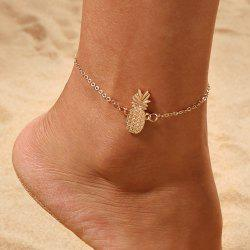 Gold Pineapple Charm Anklet Bracelet Women Ankle Sandals Barefoot Beach Jewelry -