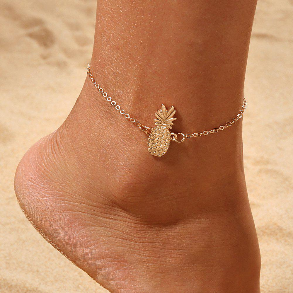 Hot Gold Pineapple Charm Anklet Bracelet Women Ankle Sandals Barefoot Beach Jewelry