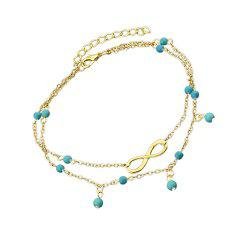 Gold Silver Color Multi Layer Chain Anklets -