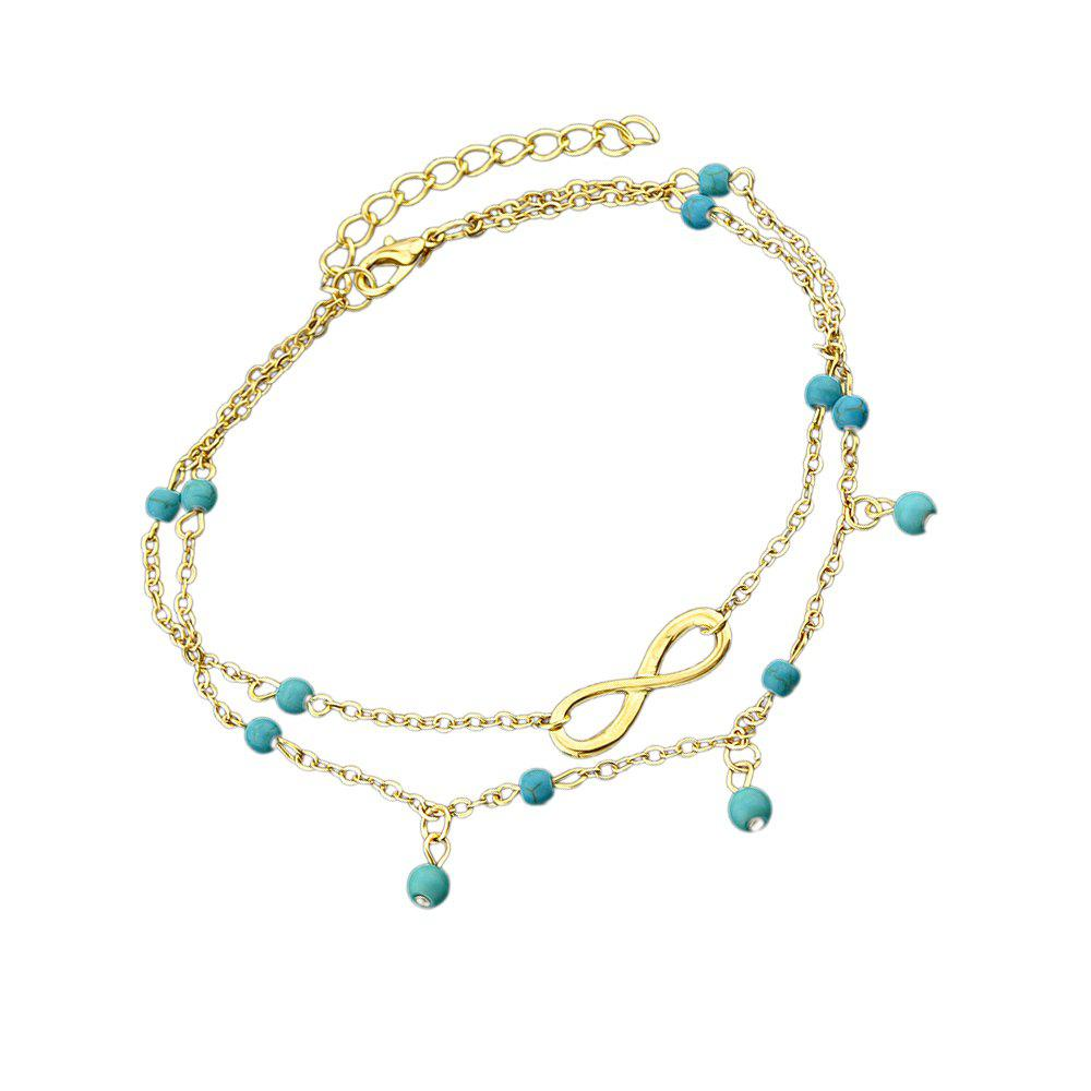 Cheap Gold Silver Color Multi Layer Chain Anklets