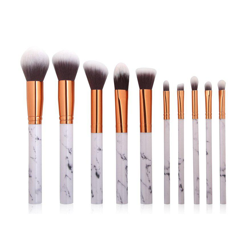 Fancy 10 Marbled Makeup Brush Set Beauty Tools