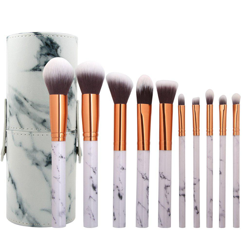 Shops 10 Marbled Makeup Brush Set with Brush Tube