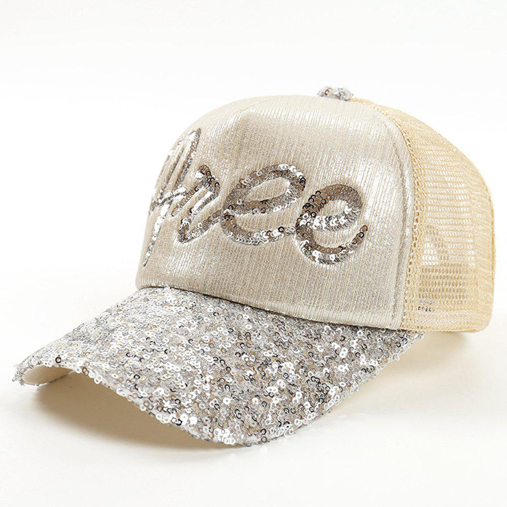 Outfits Neutral Fashion Sequins Brushed Letter Baseball Cap