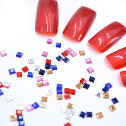 1 Pack Glass 3D Gems Square Flat-back Mix Color Clear Rose Nail Rhinestone BR106 -
