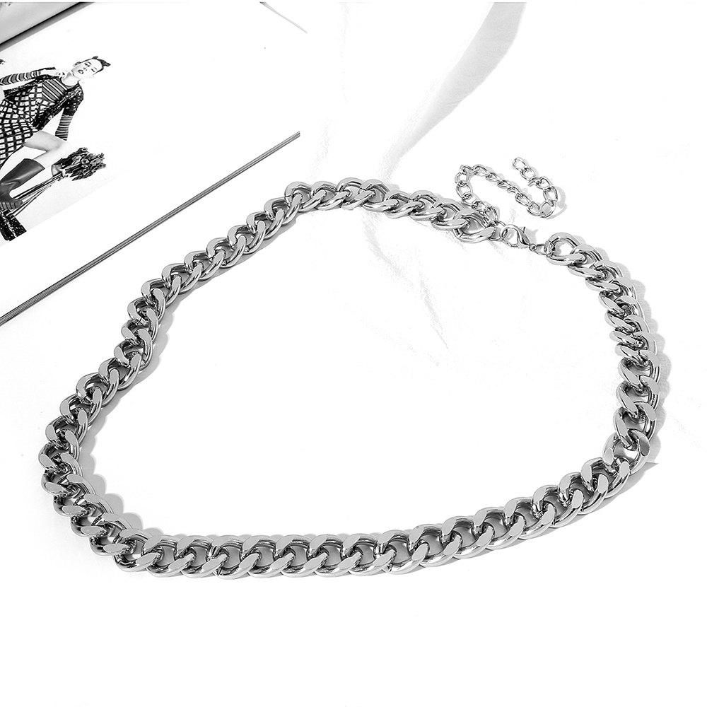 Shop Exaggerated Single Layer Thick Chain Waist Chain