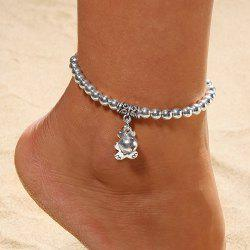 European and American Fashion Beaded Silver Plated Bell Anklet Foot Ornaments -