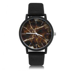 Leisure Fashion Marble Belt Quartz Watch -
