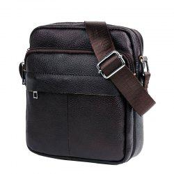 Cow Captain Crossbody Leather Men's Shoulder Durable Waterproof Sports Casual Le -
