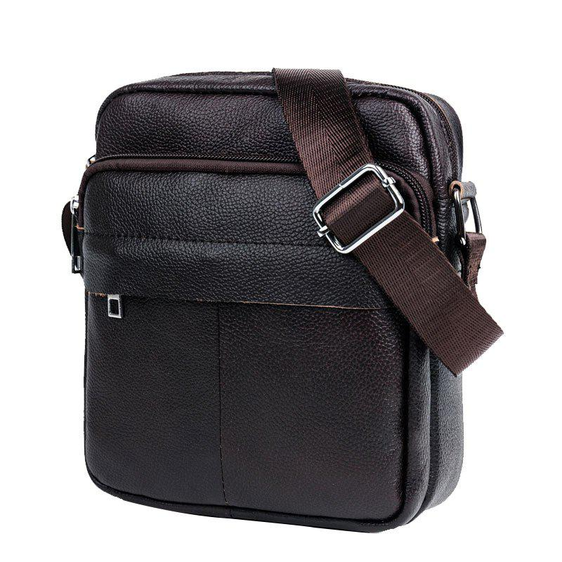 Fashion Cow Captain Crossbody Leather Men's Shoulder Durable Waterproof Sports Casual Le