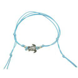 1 pc Beige Black Blue Rope with Turtle Anklets -