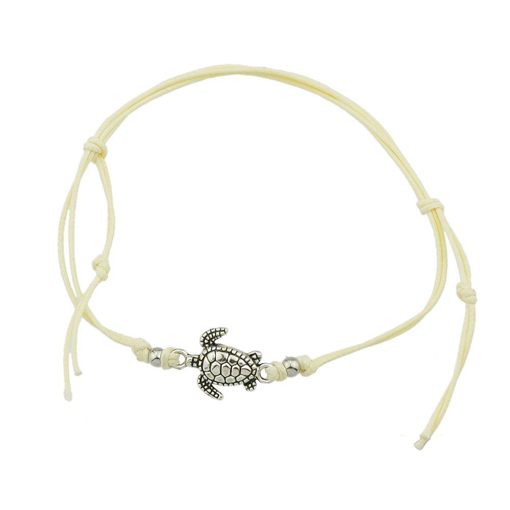 New 1 pc Beige Black Blue Rope with Turtle Anklets