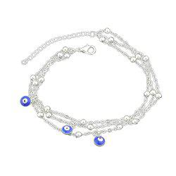 1 pc Gold Silver Color Chain With Eye Anklets -