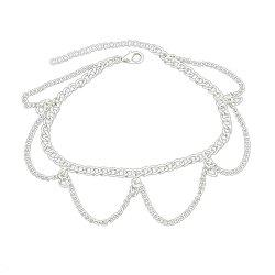 1 pc Gold Silver Color Chain With Geometric Anklets -