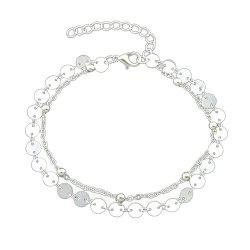 Gold Silver Color Chain With Beads Anklets -