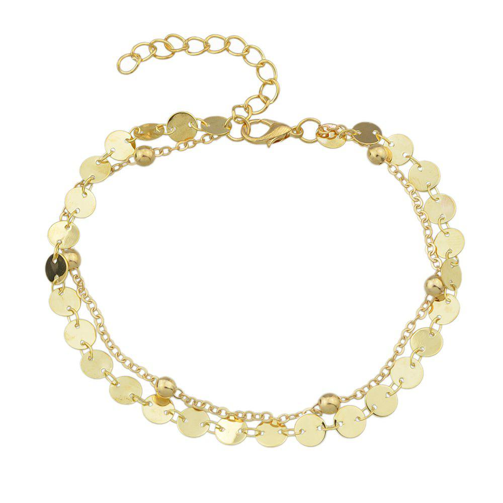 Outfits Gold Silver Color Chain With Beads Anklets