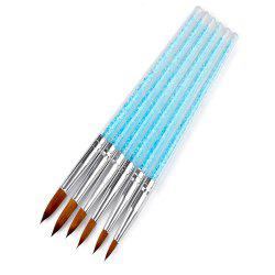 6PCS CRYSTAL Crystal Dedicated Crystal Pen Blue Transparent Diamond Crystal Pen -